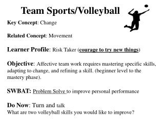 Team Sports/Volleyball