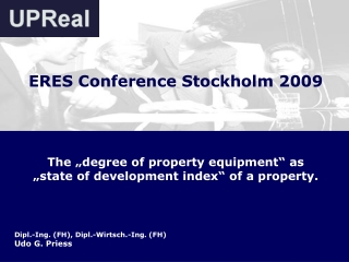 """The """"degree of property equipment"""" as """"state of development index"""" of a property."""