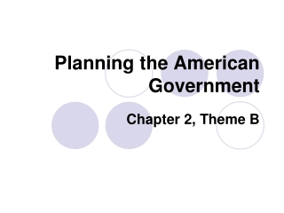 Planning the American Government