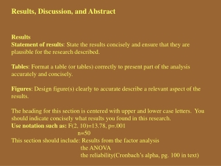 Results, Discussion, and Abstract Results