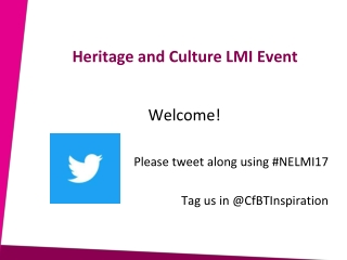 Heritage and Culture LMI Event