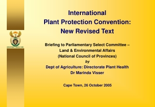 International Plant Protection Convention: New Revised Text