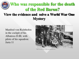Who was responsible for the death of the Red Baron?