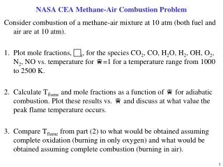 NASA CEA Methane-Air Combustion Problem