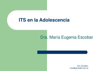 ITS en la Adolescencia