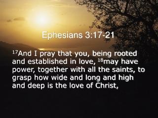 Ephesians 3:17-21