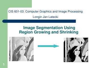 Image Segmentation Using  Region Growing and Shrinking