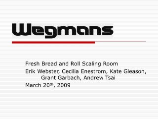 Fresh Bread and Roll Scaling Room