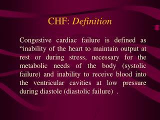 CHF: Definition