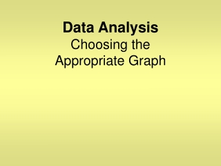 Data Analysis Choosing the  Appropriate Graph