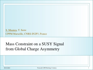 Mass Constraint on a SUSY Signal from Global Charge Asymmetry