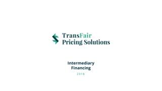 Intermediary  Financing