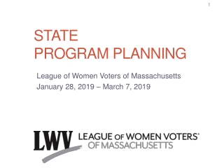 State program planning