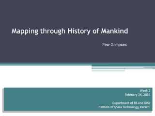 Mapping through History of Mankind