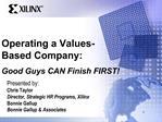 Operating a Values-Based Company: