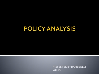 Social policy formulation and analysis