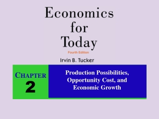 Production Possibilities, Opportunity Cost, and Economic Growth