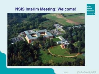 NSIS Interim Meeting: Welcome!