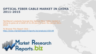 China Optical Fiber cable market- Industry Size,Trends,Analy