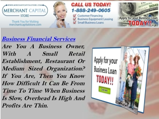 Business Financial Services