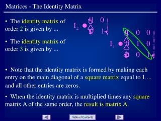 Matrices - The Identity Matrix