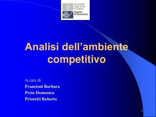 Analisi dell'ambiente competitivo