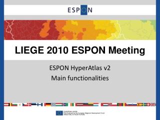 LIEGE 2010 ESPON Meeting