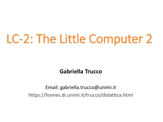 LC-2 : The Little Computer  2