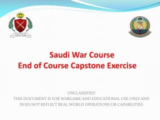 Saudi War Course End of Course Capstone Exercise