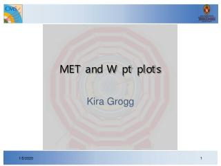 MET and W pt plots