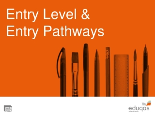 Entry Level & Entry Pathways
