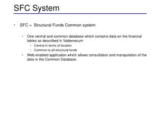 SFC System