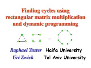 Finding cycles using  rectangular matrix multiplication and dynamic programming