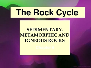 SEDIMENTARY, METAMORPHIC AND IGNEOUS ROCKS