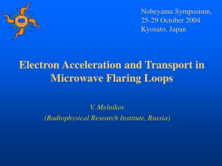 Electron Acceleration and Transport in Microwave Flaring Loops