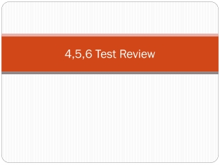 4,5,6 Test Review