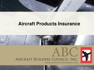 Aircraft Products Insurance