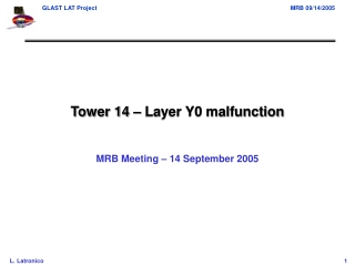 Tower 14 – Layer Y0 malfunction