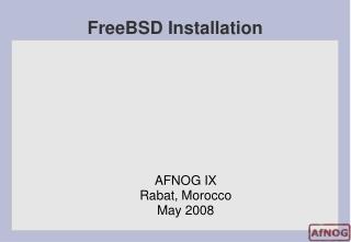 FreeBSD Installation