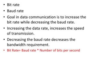Bit rate Baud rate