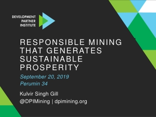 Responsible mining that generates sustainable prosperity