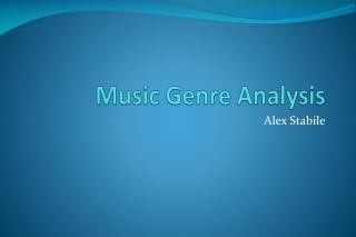 Music Genre Analysis