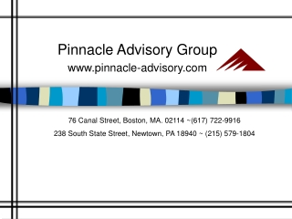 Pinnacle Advisory Group pinnacle-advisory