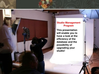 Studio Management Program
