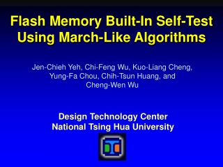 Flash Memory Built-In Self-Test Using March-Like Algorithms