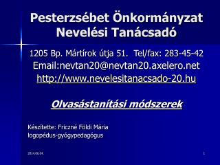 Pesterzs bet  nkorm nyzat Nevel si Tan csad