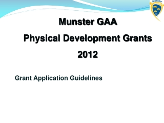 Grant Application Guidelines