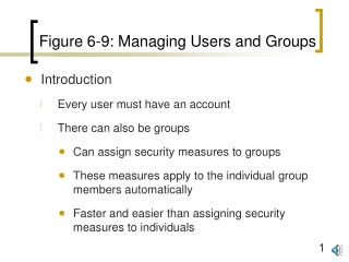 Figure 6-9: Managing Users and Groups