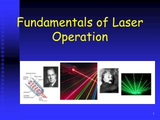 Fundamentals of Laser Operation