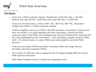 POLR Rule Overview